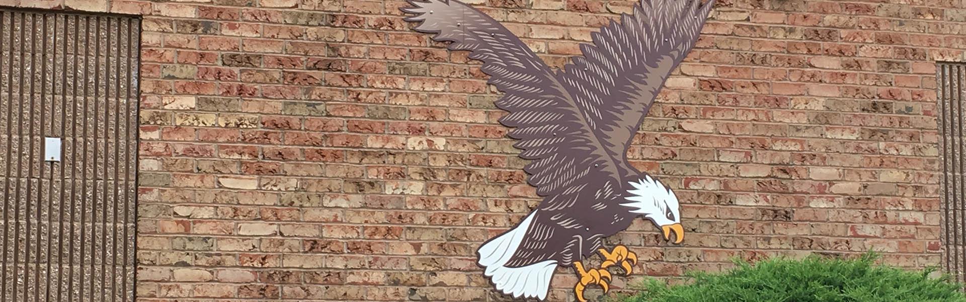 Eagle Cutout Outside Wall